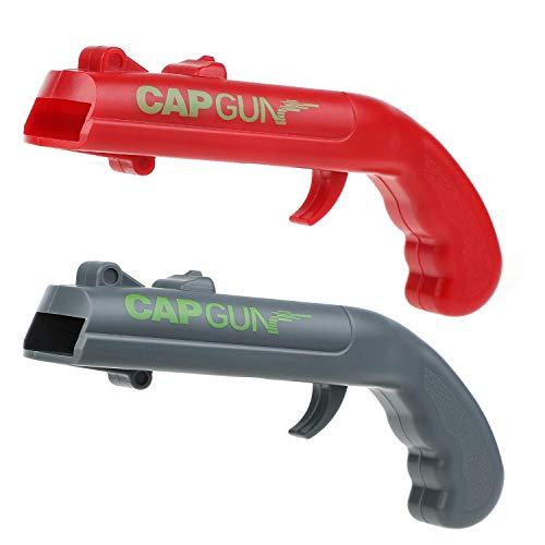 Ubitree Capgun Flaschenöffner Pistole 2 Stück Bierflaschenöffner Bieröffner Pistole Cap Gun Kappe Zappa Flaschenöffner schießt über 5 Meter weit
