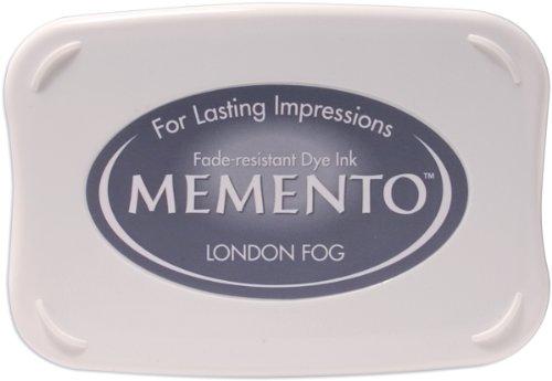 Tsukineko Memento Stempelkissen Londoner Nebel, Synthetic Material, grau, 9.8 x 6.8 x 1.8 cm