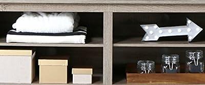 Walker Edison Furniture Essentials Corner TV Stand, Wood, 58-Inch