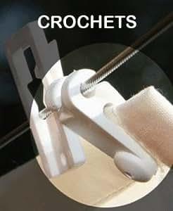 Peddy Shield - 20 Crochets de guidage pour toile sur cable acier