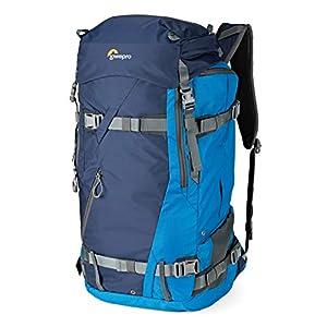 Lowepro LP37231-PWW Powder BP 500 AW Outdoor Rucksack (für Wintersport- und Trekking-Equipment für Foto/Video Equipment und persönliche Gegenstände, geeignet für DSLR/ Spiegellose & Zubehör) blau