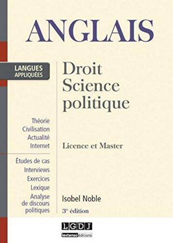 Anglais. Droit, science politique. Licence et Master