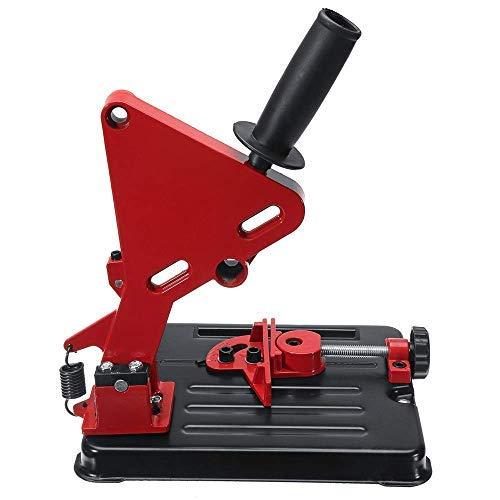 S SMAUTOP Schleifmaschine Halterung 100-125mm Winkelschleifer Halterung Casting Winkelschleifer Halterung Zubehör (rot)