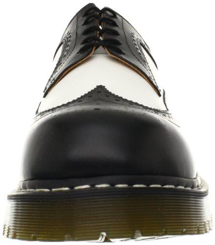 Dr.Martens Mens 3989 5-Eyelet Leather Shoes Black & White