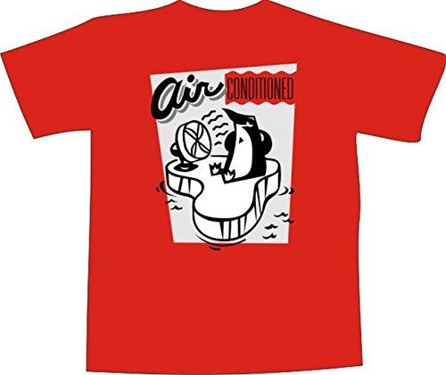 Black Dragon - T-Shirt E1191 - weiß - Größe XXL - Logo / Grafik / Design - Pinguin mit Ventilator - Funshirt Mann Frau Party Fasching Geschenk Arbeit - bedruckt (Pinguin-logo-shirt)