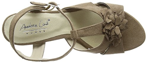 Andrea Conti 1001558, Sandales Bout ouvert femme Marron (taupe 066)