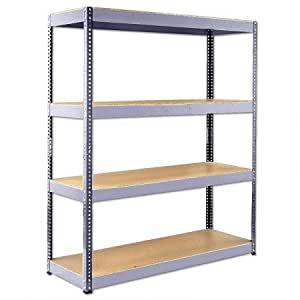 bigfoot 350vr shelving unit heavy duty shelving galvanised diy tools. Black Bedroom Furniture Sets. Home Design Ideas