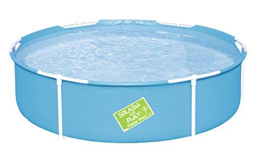 Bestway My First Frame Pool, stabiler und leicht aufbaubarer Kinderpool, 152x152x38 cm