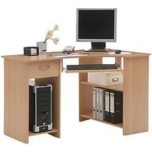 """Schreibtisch Arbeitstisch Eckschreibtisch Kinderschreibtisch Computertisch """"Jay"""" (Buche)"""