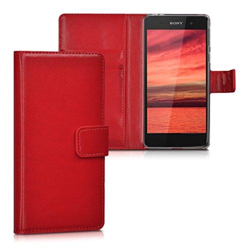 kwmobile Sony Xperia E5 Hülle - Kunstleder Wallet Case für Sony Xperia E5 mit Kartenfächern und Stand