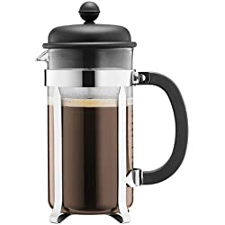Bodum CAFFETTIERA Kaffeebereiter (French Press System, Permanent Edelstahlfilter, 1,0 liters) schwarz