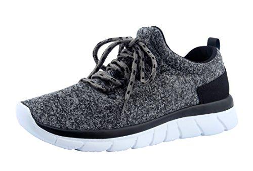 Santiro Femmes Chaussures de Course Sports Fitness Gym athlétique Baskets. Gris