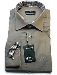Seidensticker Herren Langarm Hemd UNO Regular Fit strukturiert mit Patch 139216