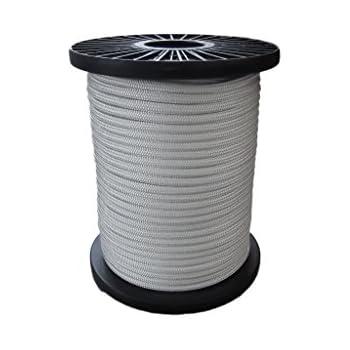 10mm Flechtleine - weiß - 100m - Rolle