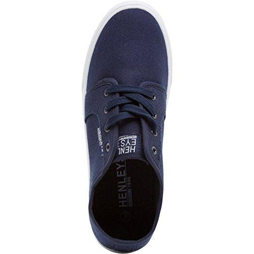 Hommes Henleys Kenyon Chaussures En Toile Créateur Lacet Chaussures Plates Baskets Style Décontracté Carlisle Navy