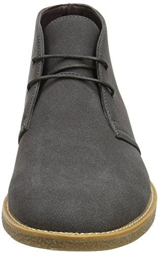 Nuovo Look Herren Suedette Desert Boots Grau (grigio Scuro)