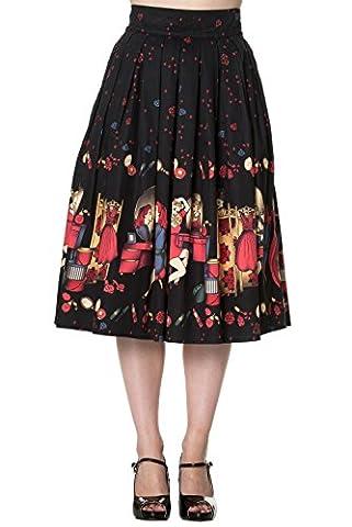 Banned Apparel - Vanity Swing Skirt S / Black