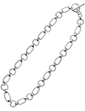 NYKKOLA Schmuck Schöne Fashion Sterling-Silber 925 Matt Poliert T-bar Unisex Halskette