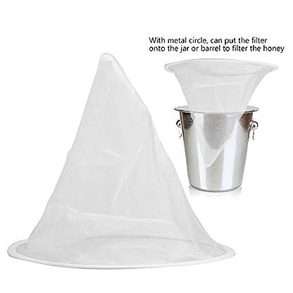 Beekeeping Honey Strainer Filter Net Honey Apiary Equipment White 8
