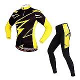 ROOKLY Männer Und Frauen Radfahren Jersey Anzug Winter Thermische Fleece Langarm Mountain Coat Bike Shirt 3D Strumpfhosen Gepolstert