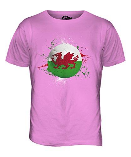 CandyMix Wales Fußball Herren T Shirt Rosa