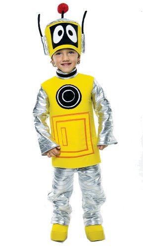 Yo Gabba Gabba Plex Kinderkostüm Roboter - Gr. M / 92-104cm (Raumanzug Kostüm Für Kinder)