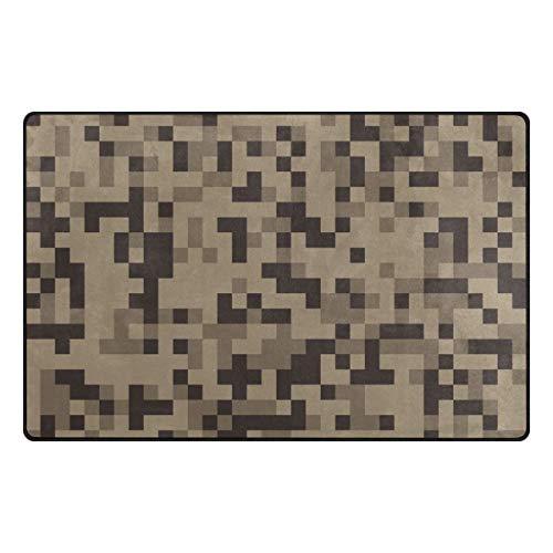 MALPLENA Mosaic Camouflage Carpet Entry Way Door Mat Doormat Area Rug Floor Mats Shoes Scraper for living room/dining room/bedroom/Kitchen non slip