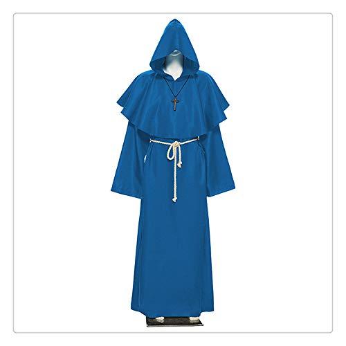 Preisvergleich Produktbild Z-one 1 Lamm of God Alpha Omega Clergy Hood Kleidung mit Seil und Kreuz-Ornamenten Polyester und Satin Weste für Priester (3 Farben und Größen)