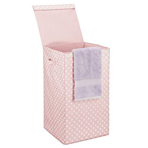 Cesto de ropa sucia con tapa – Moderno cesto para colada plegable, blanco