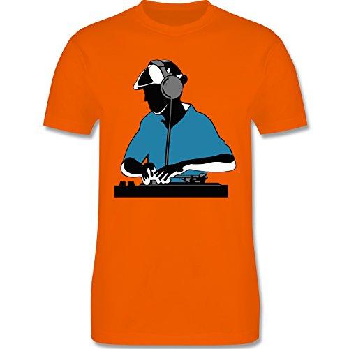 DJ - Discjockey - Discjockey - Herren Premium T-Shirt Orange