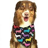 Osmykqe Retro Dog Sausage Pet Dog Bandana Collar Cotton Dog Bibs for Dog,X-Small/Small