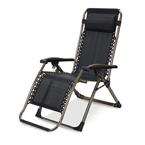 WGXX Klappstuhl Falten Recliner Stuhl Liege Zurücklehnen Salon Null Schwere Einstellbar UV-beständig Wasserdicht (Farbe : B) -