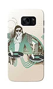 KnapCase DJ Girl Designer 3D Printed Case Cover For Samsung Galaxy S7