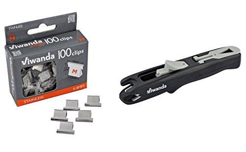 Viwanda Papier Clipper - Eric Schwarz - Büro / Studenten Klammerspender für zum zusammenheften von Unterlagen, inklusive 100 6.4mm Clips Standard-clipper