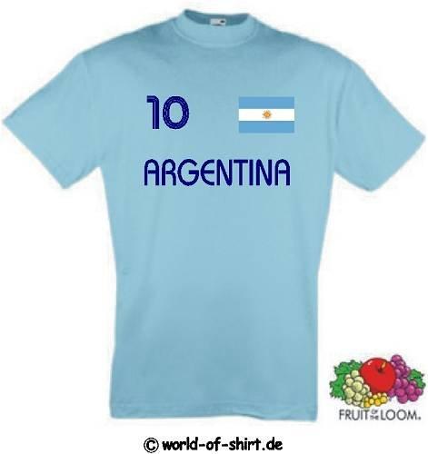 world-of-shirt Herren T-Shirt Argentinien im Trikot Look 1-