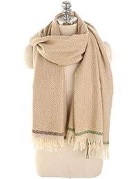 Primavera Otoño Imitación Bufanda De Cachemira Cálido Mujeres Compras Moda  Mantón Borla Pañuelo Para El Cuello 9c3537fba6c