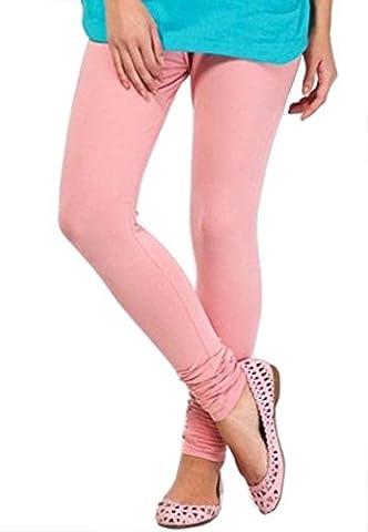 Pink Lady Rose - dames femmes leggings coton doux extensible plaine