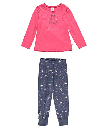 Sanetta Mädchen 232086 Zweiteiliger Schlafanzug, Rosa (Kiss 3834), 116 (Mädchen Pyjama Print Animal)