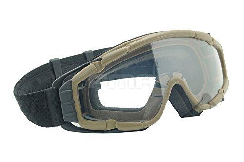Fan Version Kühler Gläser si-ballistic Schutzbrille für Radfahren Fahren Tactical Paintball Softair Ski Snowboard 3Farben (schwarz, DE, Pink) DE (Airsoft Schutzbrille-fan)