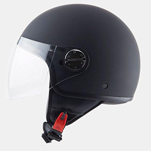 Zyclo Solid 110200035- Casco para motocicleta, Negro Mate, M 57–58