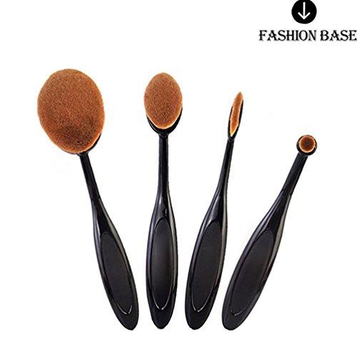 Fashion Base® 4 pcs/set Brosse à dents Forme sourcils Maquillage Brosse Fond de teint poudre Brosse Kits