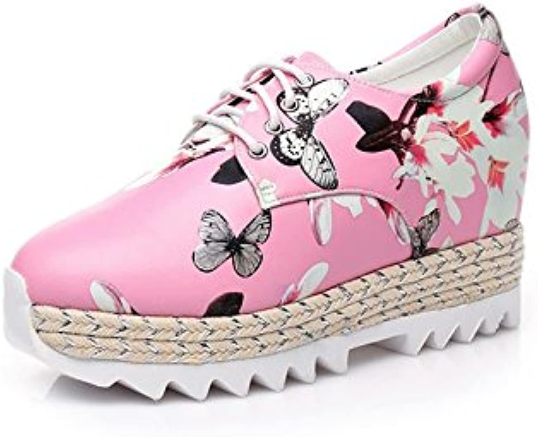 BaiLing Sandali scarpe da ginnastica di estate delle donne con il tallone delle signore di stampa a maglia modo lavorato a... | Ampie Varietà  | Gentiluomo/Signora Scarpa