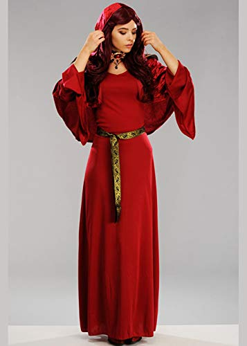 Magic Box Int. Frauen-Dame Melisandre Style Red Woman Priesterin Kostüm Medium (UK 12-14)