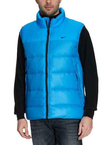 NIKE Herren Weste Basic , blue glow/black, XL