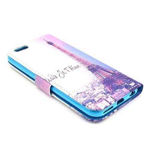 """MOONCASE iPhone 6 Case Motif Conception Coque en Cuir Portefeuille Housse de Protection Étui à rabat Case pour iPhone 6 (4.7"""") P43"""