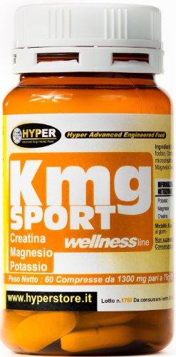 Hyper KMG Sport Magnesio Potassio Creatina Energetico - Barattolo da 60 Compresse