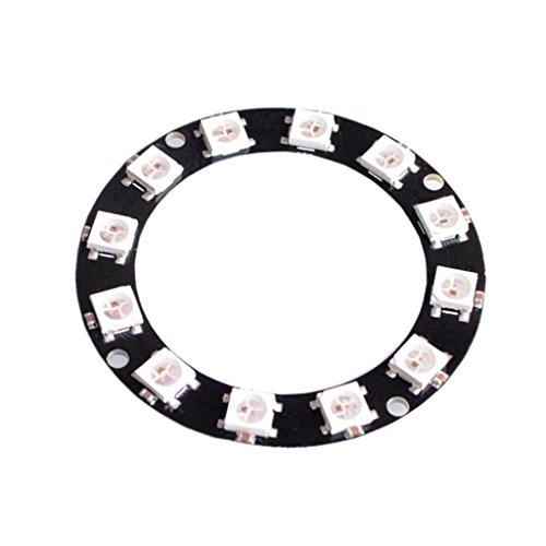 Preisvergleich Produktbild Sharplace Regenbogen LED Circle Board Lampe Ring WS2812 5050 RGB 12-Bit Entwicklungsboard Modul