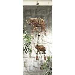 India de elefante y campanas de viento