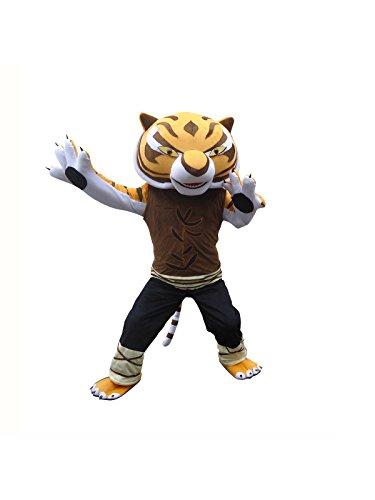 Preisvergleich Produktbild Happy Shop EU Tigress Tiger of Kung Fu Panda Erwachsene Halloween Maskottchen Kostüm Kleid Outfit