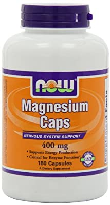 Magnesium Caps 400mg 180 Caps from now